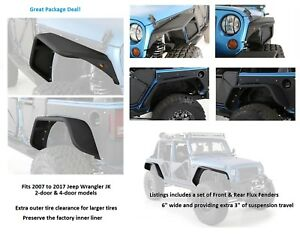 Smittybilt Xrc Flux Front And Rear Fender Flare Set For 07 17 Jeep Jk Wrangler