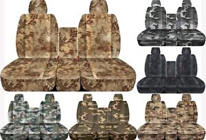 Fits 11 2014 Ford F150 Front 40 20 40 Camouflage Car Seat Covers Solid Console