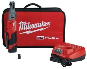 Milwaukee 2557 21 M12 Fuel 3 8 Drive Ratchet Kit With 2 Batteries And Charger