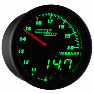 Maxtow Black Green Led Double Vision Wideband Air fuel Ratio Gauge Mt dv02 wb