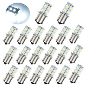20pc Dc12v 1156 1003 1141 13 Smd Interior Rv Camper White Led Tail Backup Bulb
