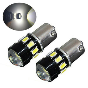2pc 1156 Projector 5630 Chip 16led White Turn Signal Brake Tail Lights Bulbs