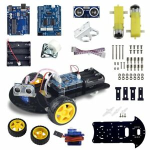Uno R3 Smart Robot Car Kit For Arduino Ultrasonic Sensor Motor Automatic Avoid