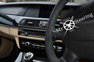 Perforated Leather Steering Wheel Cover Fits Mercedes Clk W209 Green Double Stch