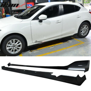 Fits 14 18 Mazda 3 4dr 5dr Mz Ms Style Side Skirts Extension Lip Abs