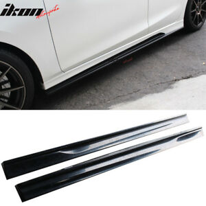 Fits 14 18 Mazda 3 K Style Side Skirts Step Extensions Unpainted Abs