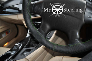 For Mercedes W163 Ml 97 Perforated Leather Steering Wheel Cover Green Double St