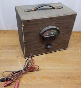 Vintage Unbranded Battery Tester Tach Dwell Diode Meter Nice Condition