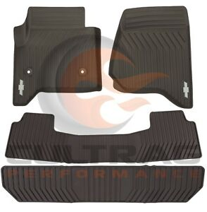 2015 2020 Tahoe Suburban Gm Front 2nd 3rd Row All Weather Floor Mats Cocoa