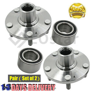 Pair 2 Front Wheel Hub Bearing Assembly Fits 04 14 Hyundai 06 13 Kia