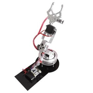 Metal Alloy 6dof Robot Arm Clamp Claw Swivel Rotatable Stand Mount Kit