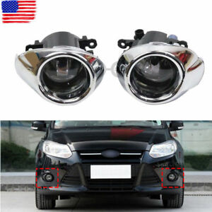 Clear Lens Driving Fog Light Bumper Lamps Bulbs For Ford Focus 2012 2013 2014