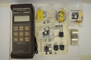 Omega Hh22 Type J k Thermocouple Thermometer Used