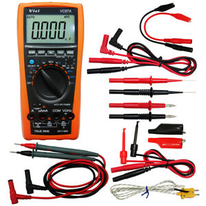 Aidetek Vc97 3999b Lcd Auto Range Multimeter Needle Tipped Tip Test Tlp20157 Usa