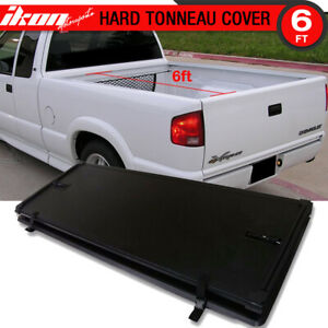 Fits 94 04 Chevrolet S10 Gmc S15 72in Bed Tri Fold Hard Solid Tonneau Cover