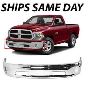 New Chrome Steel Front Bumper Face Bar For 2013 2018 Ram 1500 Pickup With Fog