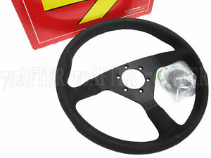 Momo Steering Wheel Monte Carlo 350mm Alcantara Black Spoke