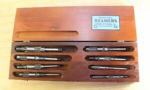 Vtg Critchley Reamers Wood Box Set Of 8 chadwick Trefethen made In Usa