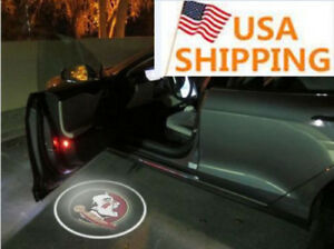 2 Wireless Led Car Door Light Florida State Seminoles Laser Lamp Us Free Ship