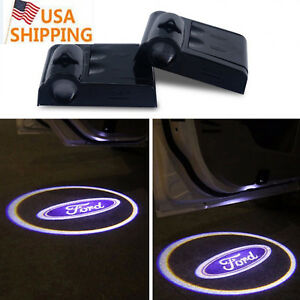 2pcs For Ford Wireless Led Door Light Courtesy Laser Logo Projector Lamp