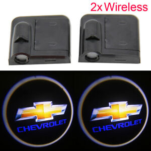 For Chevrolet Wireless Car Door Led Welcome Light Wireless Laser Projector Lamp