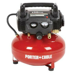 Porter cable 0 8 Hp 6 Gallon Oil free Pancake Air Compressor C2002 Reconditioned