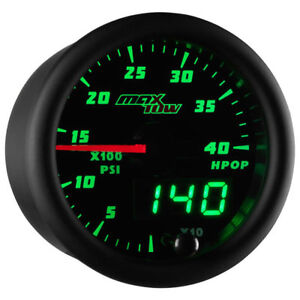 Maxtow 52mm Black Green High Pressure Oil Pressure Hpop Gauge Mt dv21