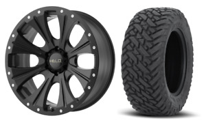 22x10 Helo He901 Black Wheel And Tire Package 33 Fuel Mt 6x5 5 Chevy Gmc