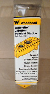 new Woodhead 4052 Water Tight Pushbutton Pendant Station 2 Button