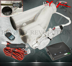 3 Electric Exhaust E Cut Out Cutout Valve System Remote For Catback Downpipe