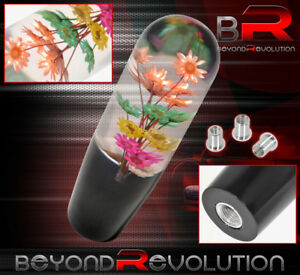 Universal 150mm Flower Muli Color Shift Knob 5 Speed M8 M10 M12 Adapter Acrylic