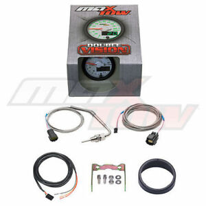 Maxtow 52mm White Double Vision Led Exhaust Temp Egt Pyrometer Gauge Mt wdv08
