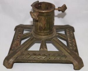 Art Deco Cast Iron Christmas Tree Stand Germany Antique