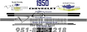 1950 Chevrolet Bel Air Deluxe Sedan Delivery Coupe Convertible Decal Set