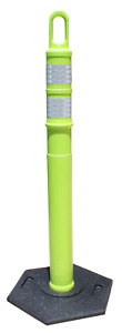 Lime Green Traffic Cones 48 Delineator looper Cones 25 Posts 25 12lb Bases