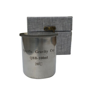 Qbb 100ml Stainless Steel Paint Density Cups Specific Gravity Cups