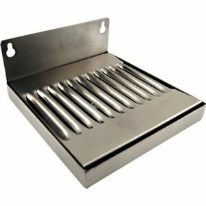 6 Wall Mount Drip Tray Stainless Steel No Drain 4 X 6