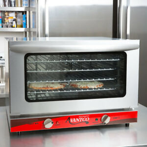 Commercial Electric Convection Oven Avantco 1 2 Countertop Pizza Restaurant Deli