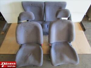 Jdm 92 95 Honda Civic Hatchback Eg6 Eg Oem Front Rear Left Right Cloth Seats