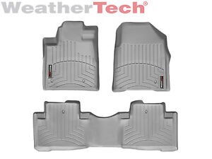 Weathertech Floor Mats Floorliner For Honda Pilot 2009 2015 1st 2nd Row Grey