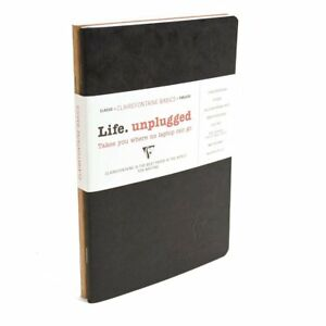 Clairefontaine Soft Bound Duo Notebook Black And Tan 5 75 X 8 25 50 Sheets