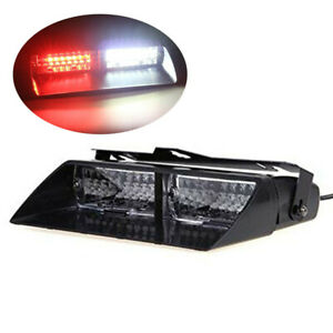 Car 16led 18 Flashing Mode Emergency Vehicle Dash Warning Strobe Light Red White
