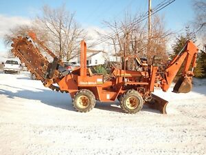 Ditch Witch 5510dd Trencher backhoe Combo Tractor With 6 Way Backfill Blade