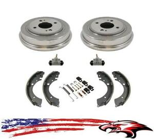 New Rear Drums Brake Shoes Wheel Cylinders Hardware For Honda Civic 1992 2000