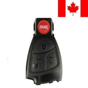 1 New Replacement Remote Key Fob Button Pad For Mercedes Benz Iyz3312 Shell Only