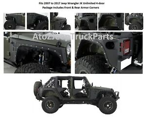 Smittybilt Xrc Front And Rear Fender Armor Corners For 07 17 Jeep Jk Wrangler