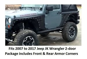 Smittybilt Xrc Front And Rear Fender Armor Set For 07 17 Jeep Jk Wrangler 2 door