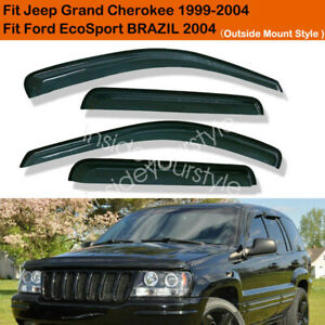 For Jeep Grand Cherokee 1999 2004 Window Visor Rain Guard Shield Smoke Deflector