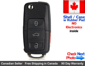 1x New Replacement Remote Key Fob Flip Case 3 Button For Volkswagen Shell Only