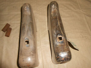 1948 Plymouth 2 Door Coupe Deluxe Rear Bumper Guards W Collars